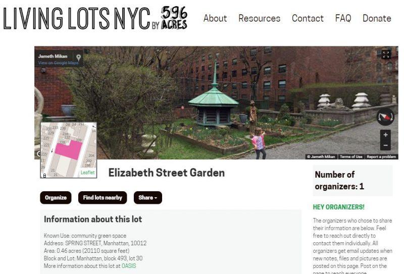 Elizabeth Street Garden detail
